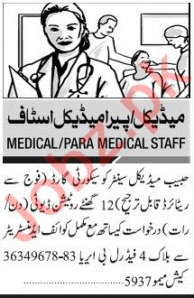 Jang Sunday Classified Ads 6 Sep 2020 for Medical Staff