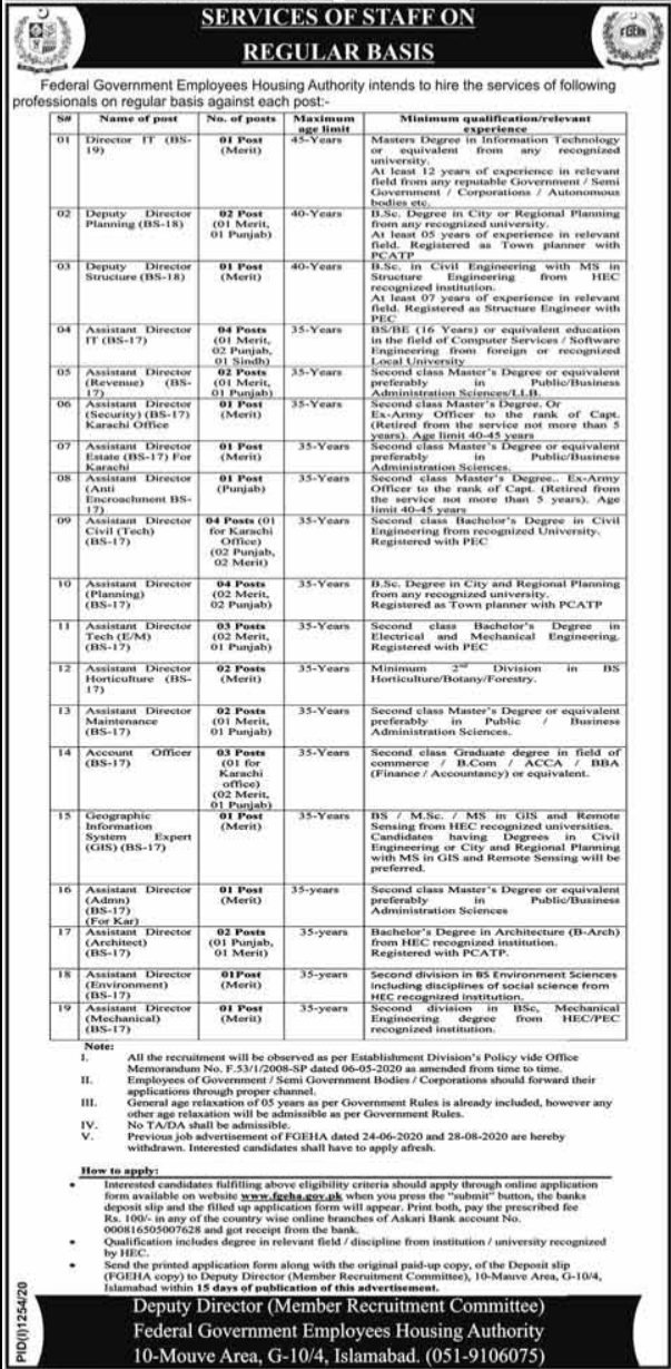 Federal Government Employees Housing Foundation Jobs 2020