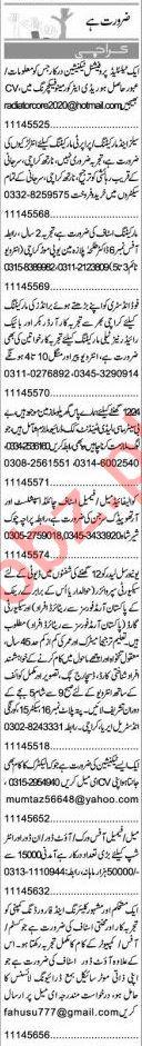 Express Sunday Karachi Classified Ads 6 Sep 2020