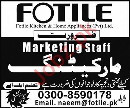 Fotile Kitchen & Home Appliances Jobs 2020 Marketing Staff