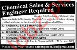 Chemical Sales Manager & Chemical Sales Engineer Jobs 2020