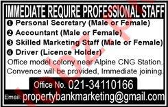 Personal Secretary & Accountant Jobs 2020 in Karachi