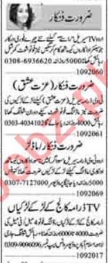 Actor & Model Jobs Career Opportunity in Lahore