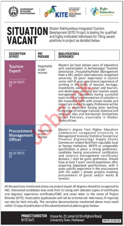 KITE KPK Jobs 2020 for Procurement Management Officer