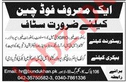 Restaurant Manager & Cashier Jobs 2020 in Lahore