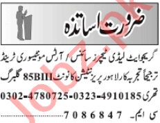Montessori Teacher & Teacher Jobs 2020 in Lahore
