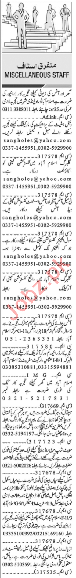 Civil Engineer & Female Office Manager Jobs 2020