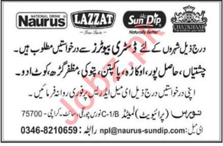 Naurus Karachi Jobs 2020 for Distributors