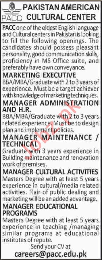 Marketing Executive & Manager Administration Jobs 2020