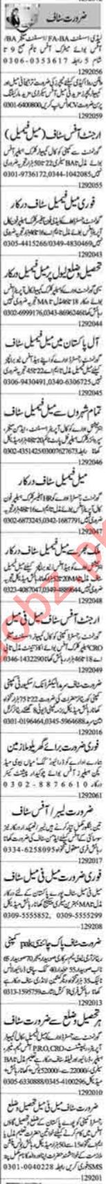 Insurance Agent & Public Dealing Expert Jobs 2020 in Lahore