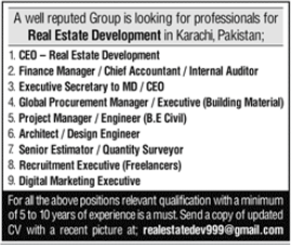 Real Estate Development Group Jobs 2020 in Karachi