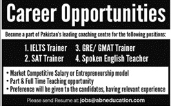 ABN Overseas Education Jobs 2020 in Karachi