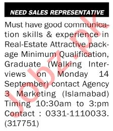The News Sunday Classified Ads 13 Sep 2020 for Sales Staff