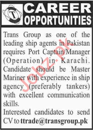 Manager Operations Jobs 2020 in Trans Group