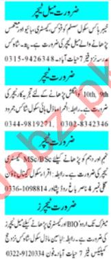 Female Receptionist & Teacher Jobs 2020 in Peshawar