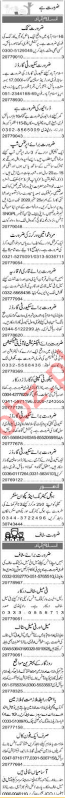 Drill Instructor & Receptionist Jobs 2020 in Islamabad