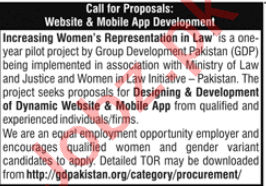 Group Development Pakistan GDP Islamabad Jobs 2020