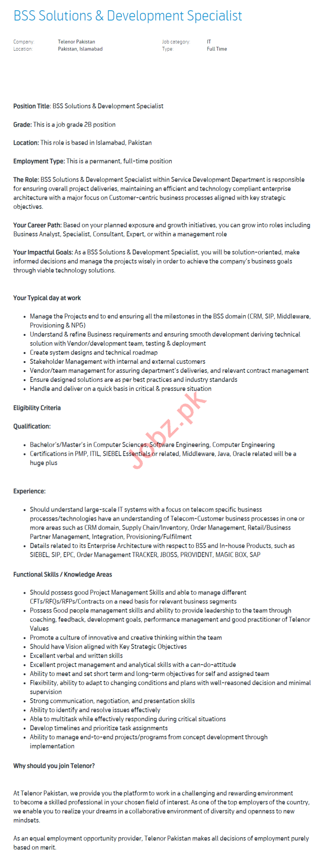 BSS Solutions & Development Specialist Jobs 2020