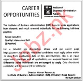 Institute of Business Administration IBA Karachi Jobs 2020