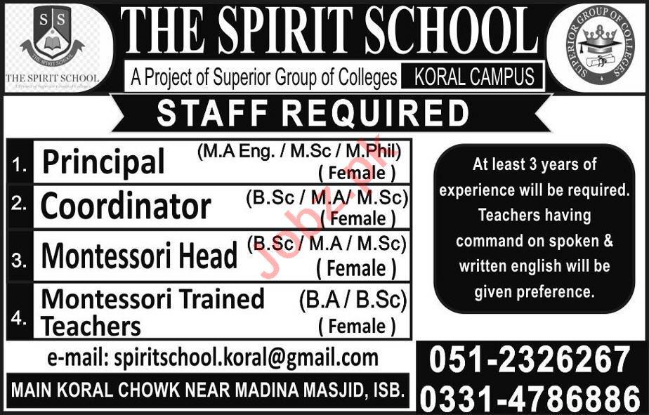 The Spirit School Koral Campus Jobs for Teachers