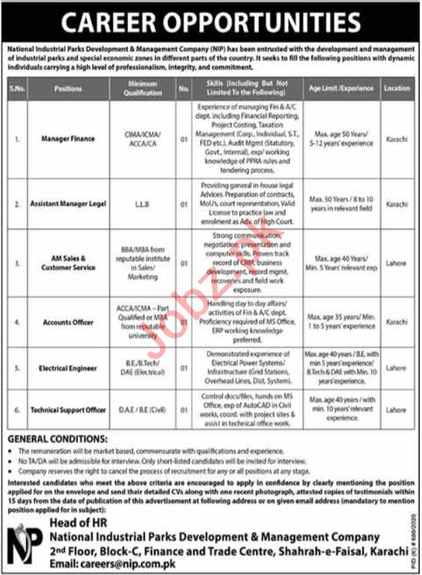National Industrial Parks Development & Management NIP Jobs