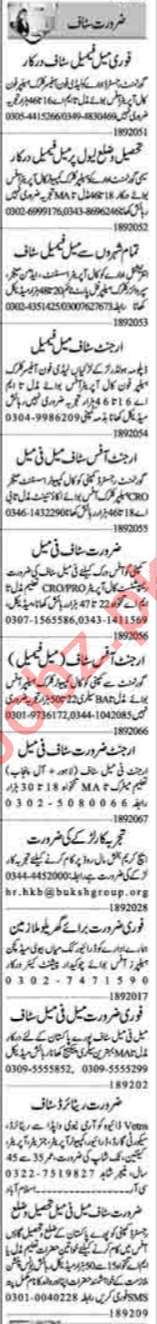 Recovery Officer & Admin Officer Jobs 2020 in Lahore