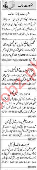 Computer Operator & Call Operator Jobs 2020 in Lahore