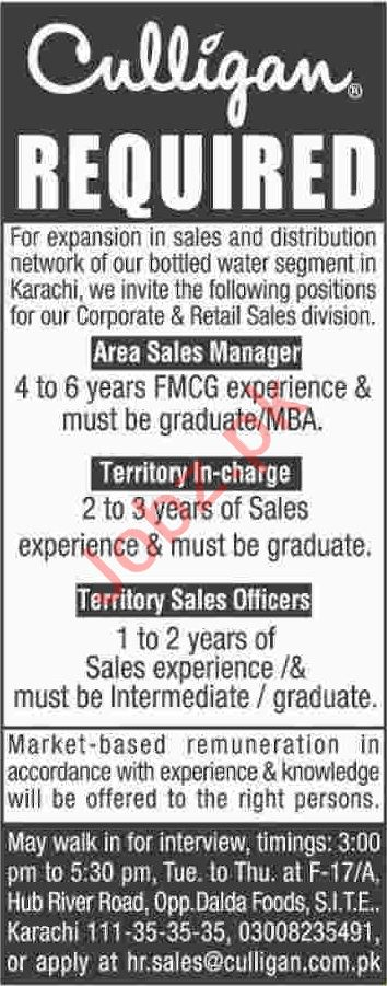 Area Sales Manager & Territory Incharge Jobs 2020