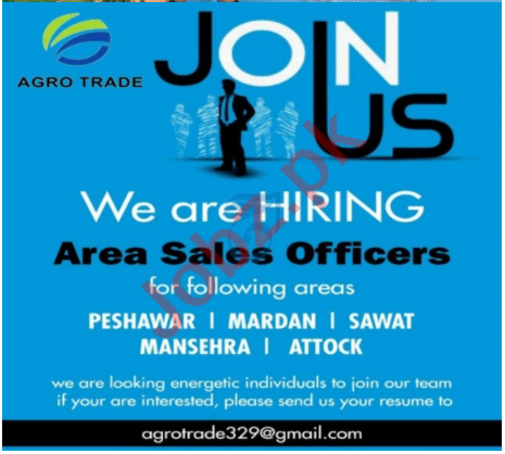 Agro Trade KPK Jobs 2020 for Area Sales Manager