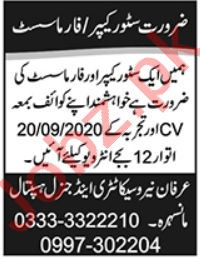 Irfan Neuropsychiatric & General Hospital Mansehra Jobs 2020