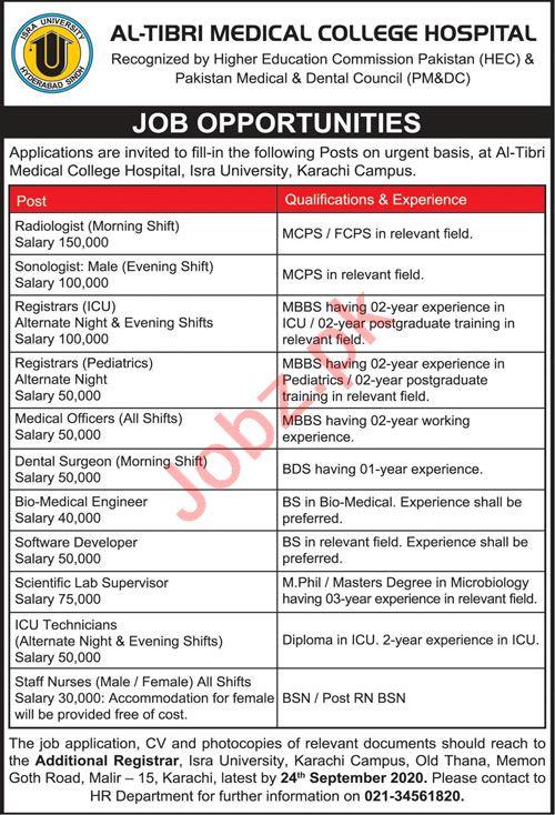 Al Tibri Medical College Hospital Karachi Jobs Radiologist