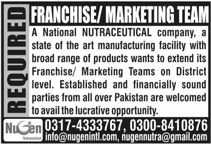 Nutraceutical Company Jobs 2020 For Marketing Staff