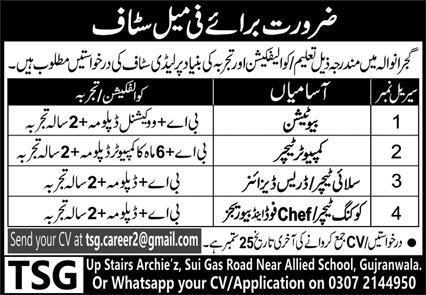 Private Company Jobs 2020 in Gujranwala