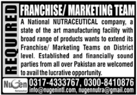 Nugen Nutraceutical Company Jobs 2020 For Marketing Staff
