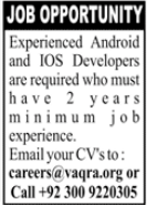 Android & iOS Developers Jobs 2020 in Karachi