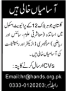 School Staff Jobs 2020 in Karachi