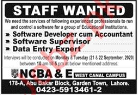 Software Developer & Data Entry Expert Jobs 2020 in Lahore