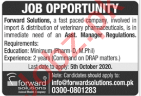Forward Solutions Lahore Jobs 2020 for Assistant Managers