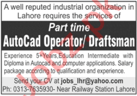 AutoCAD Operator & Draftsman Jobs 2020 in Lahore