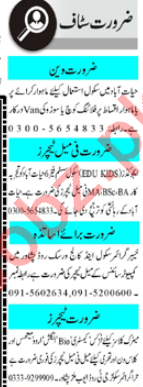 Mashriq Sunday Classified Ads 20 Sept 2020 for Teachers