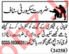 Nawaiwaqt Sunday Classified Ads 20 Sept 2020 for Security