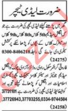 Nawaiwaqt Sunday Classified Ads 20 Sept 2020 for Educational