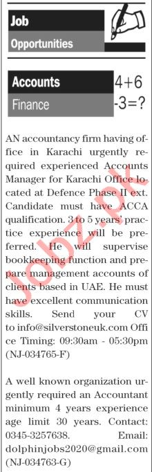 The News Sunday Classified Ads 20 Sept 2020 for Accounts