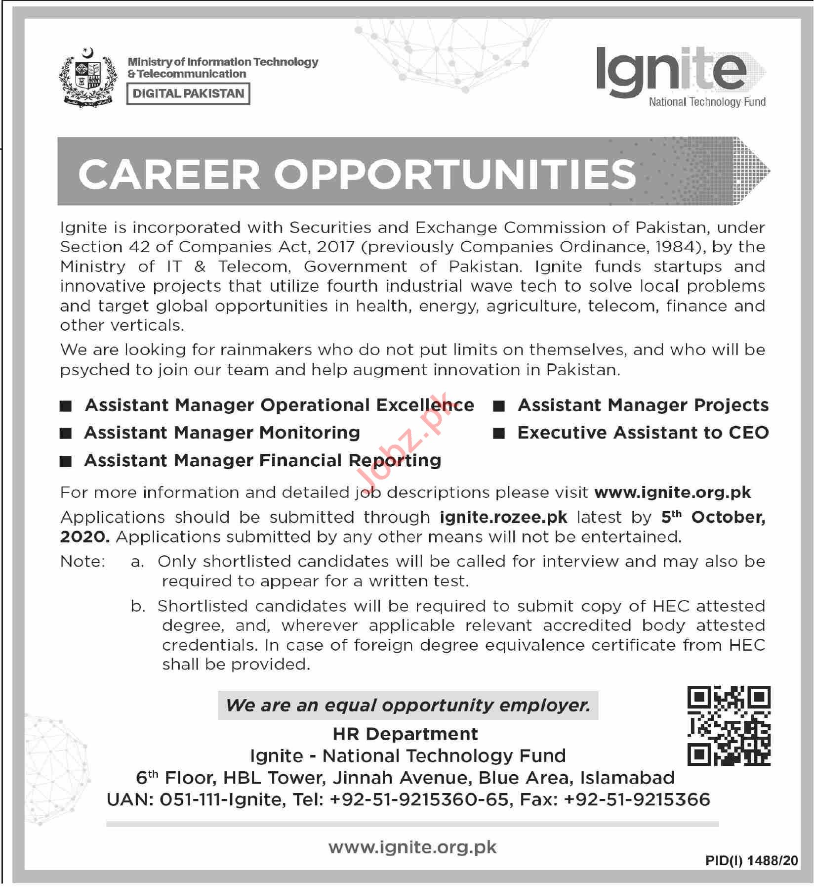 Ignite National Technology Fund Jobs 2020 for Managers