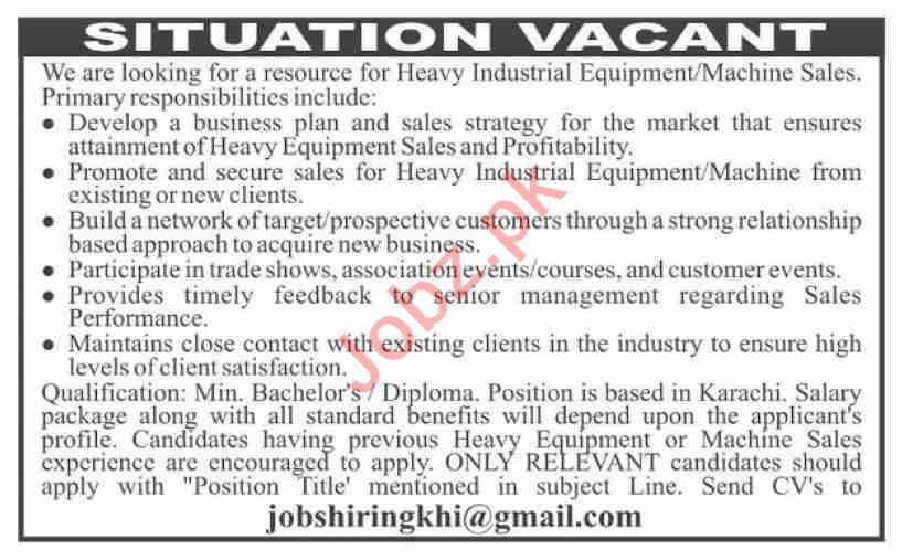 Manager Sales & Sales Executive Jobs 2020 in Karachi