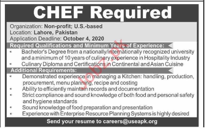 Chef Jobs 2020 in United States Employees Association USEAPK
