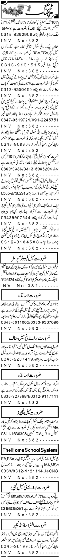 Daily Aaj Newspaper Classified Teaching Jobs in Peshawar KPK