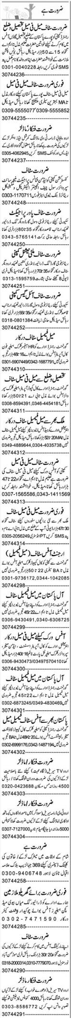 Daily Express Newspaper Classified Jobs 2020 in Lahore