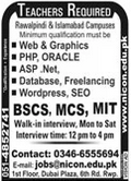Teachers Jobs 2020 in Rawalpindi & Islamabad