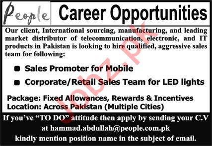 Sales Promoter & Corporate Sales Team Jobs 2020